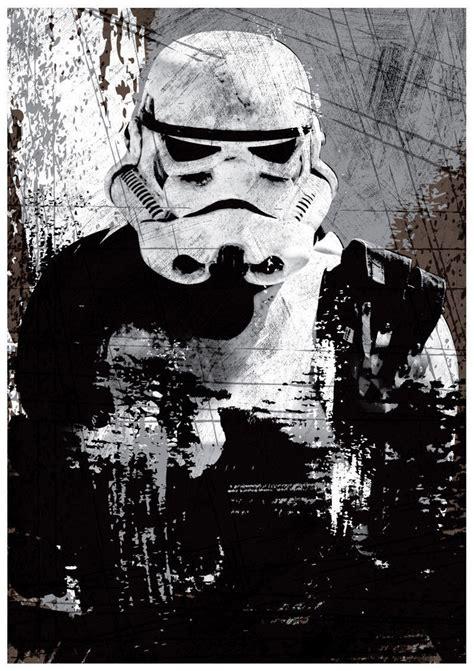 Poster A3 Wars Trooper wars all black darth vader stormtrooper boba fett a3