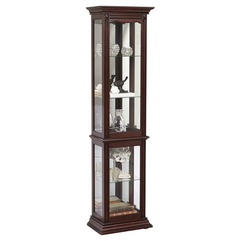 curio cabinet right2home pulaski dark cherry space saver curio cabinet