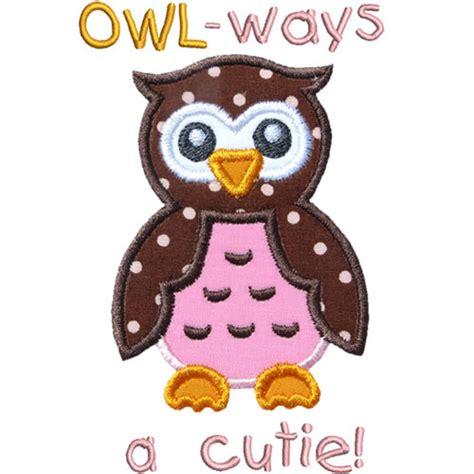 Cutie Owl owl cutie applique design