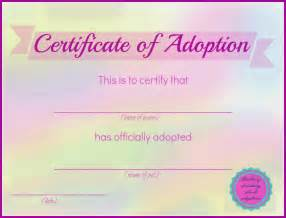 blank adoption certificate template blueberry dreaming printable stuffed animal adoption