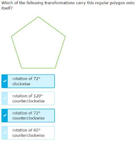 ixl transformations that carry a polygon onto itself