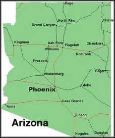 arizona state major maps map of arizona cities