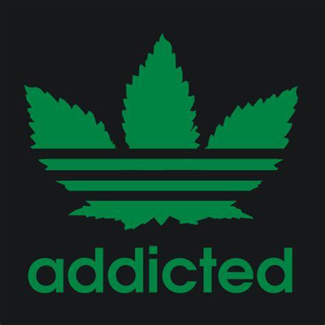 The Addicted T Shirt Logo White 420 t shirt addicted marijuana pot textual tees