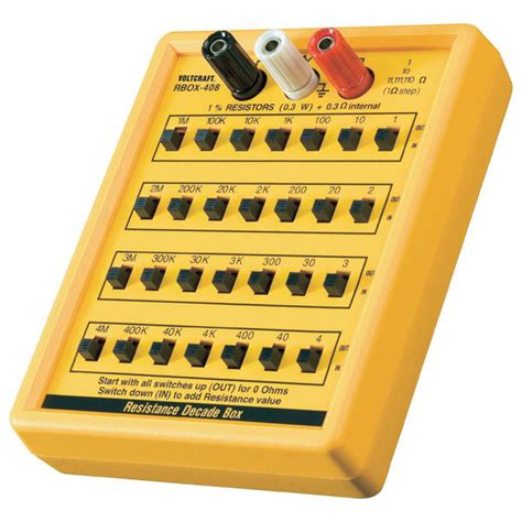 resistor box for electrical testing voltcraft r box 01 decade resistor box rapid
