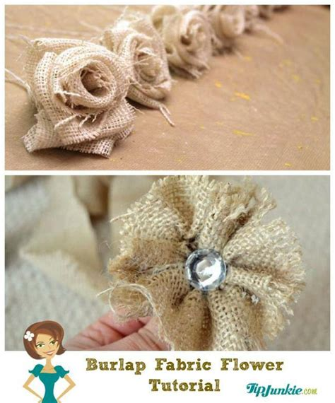 burlap flower template 21 ways to make beautiful flowers paper fabric tip junkie