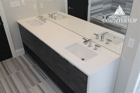beautiful white bathroom vanity with double sink and