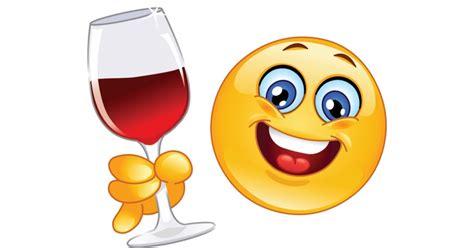 wine emoji cheers emoticon