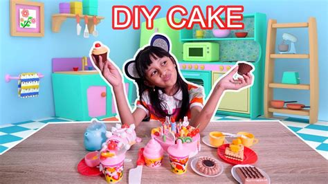 Mainan Anak Diy Fruit Cake mainan anak kue potong cake dan fruit cake