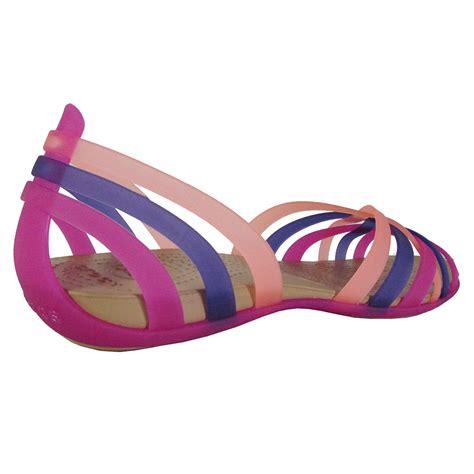 Crocs Flat crocs womens huarache flat open toe sandal shoes ebay