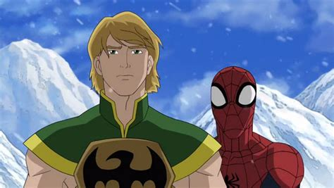 film roman marvel ultimate spiderman iron fist ultimate spider man