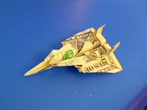 Origami Fighter Plane - dollar bill jet fighter
