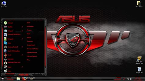download themes windows 7 rog asus premium theme pack for windows 7 youtube