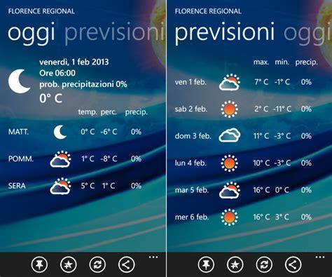 mobile meteo it meteo it disponibile nello store windows phone mobileworld
