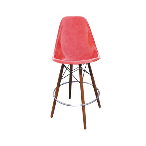 eames bar stool base 1 herman miller eames fiberglass shell on walnut swivel