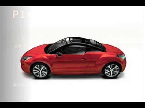 official 2014 peugeot rcz view top convertible concept