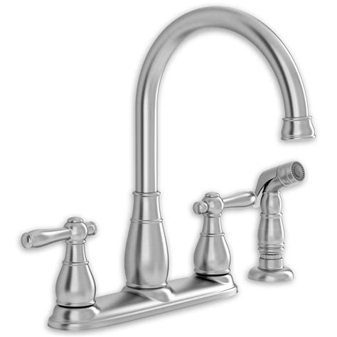 two handle kitchen faucets whitman 2 handle high arc kitchen faucet with separate side spray american standard
