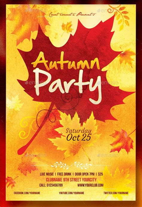 Fall Flyer Template 21 Fall Flyer Templates Sle Templates