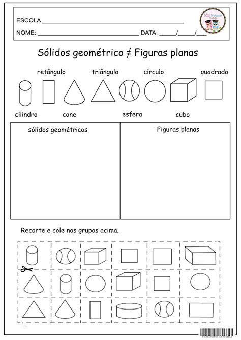 figuras geometricas atividades 4o ano sosprofessor atividades s 243 lidos geom 233 tricos e figuras planas