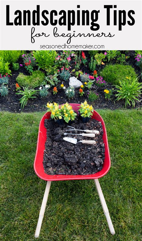 landscaping tips how to landscape the seasoned homemaker