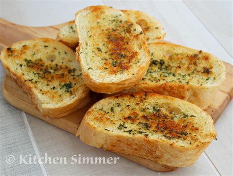 Garlic Bread kitchen simmer skillet garlic bread