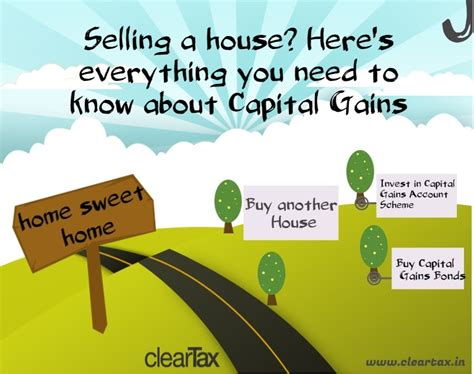 taxes on selling a house selling a property know your capital gains the cleartax blog