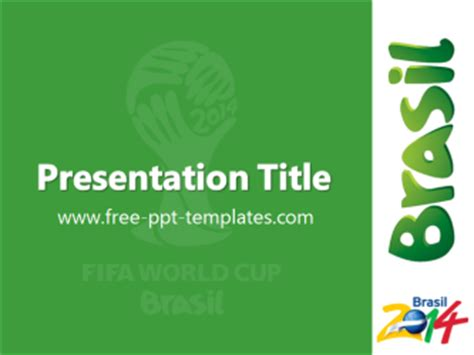 Brasil 2014 Ppt Template Free Powerpoint Templates Free Powerpoint Templates 2014