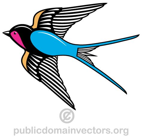 flying swallow bird vector art 123freevectors