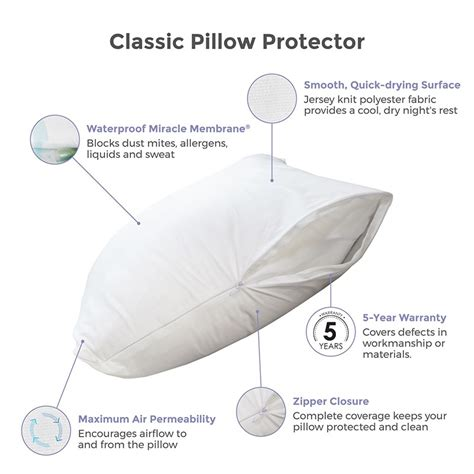 protect a bed warranty protect a bed classic waterproof pillow cover 5 year