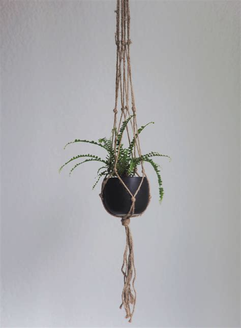 How To Make Plant Hangers - diy macrame plant hanger