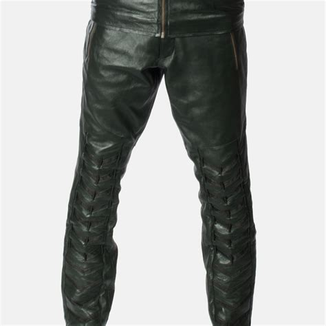 Mens Green Leather mens green leather