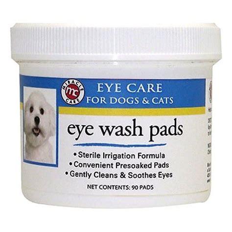 eye wash for dogs miracle care sterile eye wash pads for dogs cats 90 count chewy