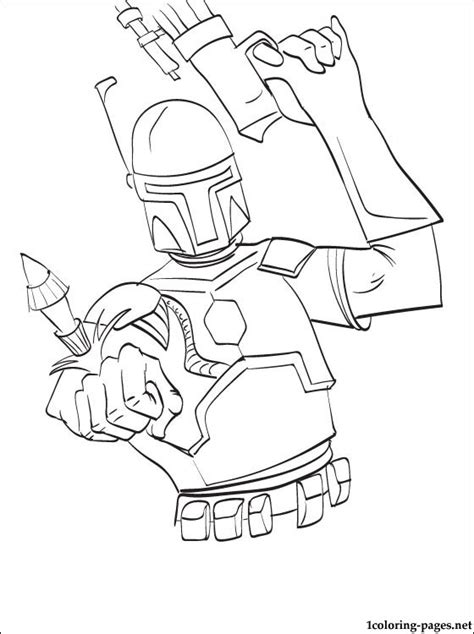 star wars boba fett printable page coloring pages