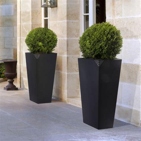 vasi da esterno alti vaso in plastica grande con finitura opaca eros nicoli