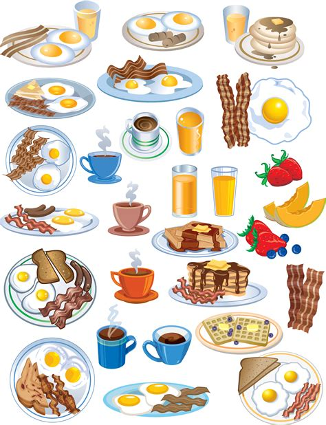 food vector lovely breakfast food icon vector free vector 4vector