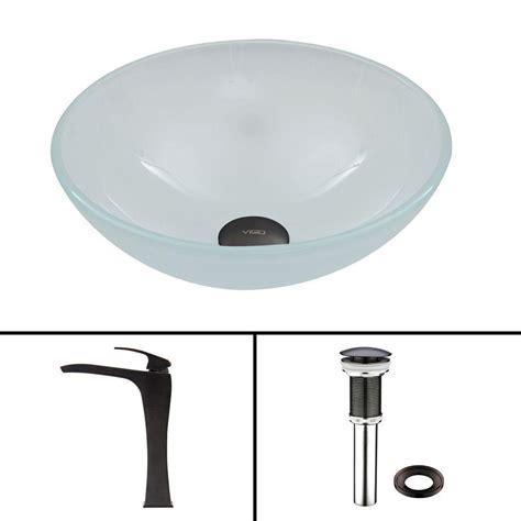 sun faucet vigo glass vessel sink in amber sun set and blackstonian