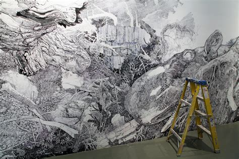 wall mural artist a sprawling wall sized mural with only a black sharpie by sullivan colossal