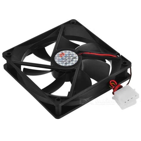 Fan Pc Hitam 12cm pc chassis cooling fan black 12cm free shipping dealextreme