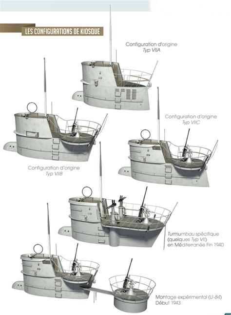 u boat guns german u boats by different conning bridge tower design