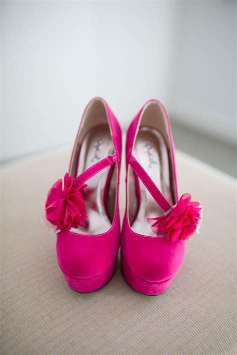 fuschia pink heels wedding is heel