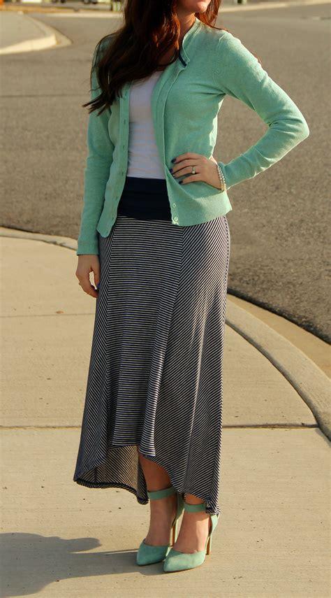 maxi skirt mint heels