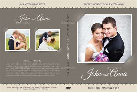 wedding dvd cover template 08 by rapidgraf graphicriver