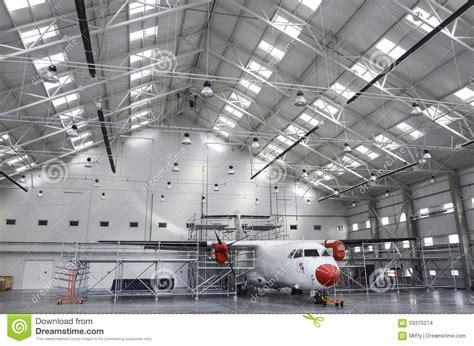 aircraft maintenance hangar aircraft maintenance hangar stock photo image 59375274