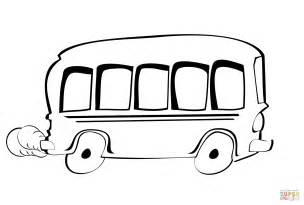 Cartoon Bus Coloring Page Free Printable Coloring Pages Vw Coloring Page