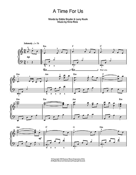 theme from romeo and juliet chords a time for us love theme from romeo juliet sheet music