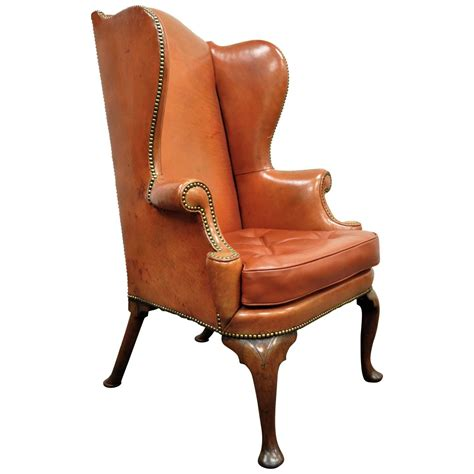 antique english wing chair at 1stdibs antique 19th century burnt orange distressed leather