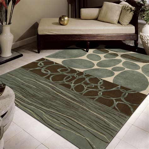 Decorations Beautiful Wool Area Rug 8x10 Contemporary