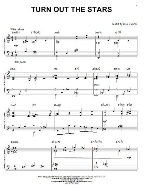 turn out the turn out the stars sheet music direct