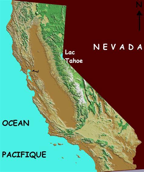 elevation map california california elevation map california mappery