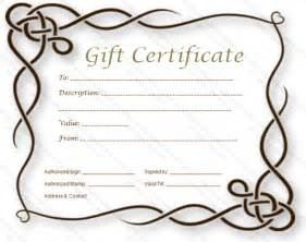 Gift Certificate Free Templates by Permalink To Formal Gift Certificate Template