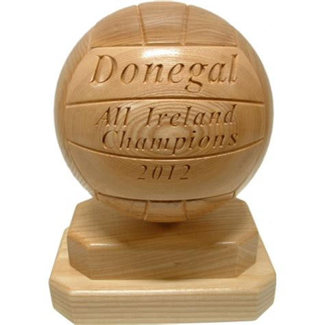 Handmade Trophy - handmade wooden sports trophy gaelic football